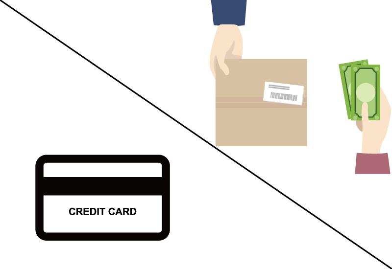 クレジットカード,代金引換