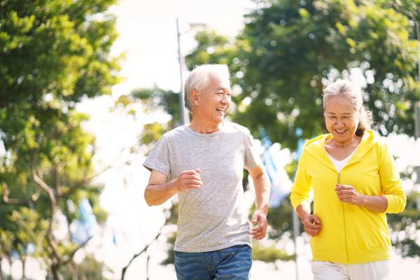 中年夫婦ジョギング